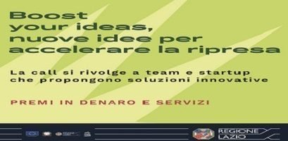 Boost your ideas, nuove idee per la ripresa