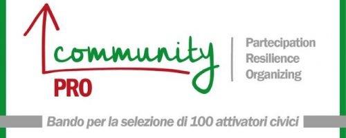 Community Pro, un progetto per la formazione di 100 attivatori civici